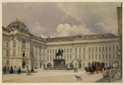 Der Josefsplatz in Wien | Rudolf von Alt | Oil Painting