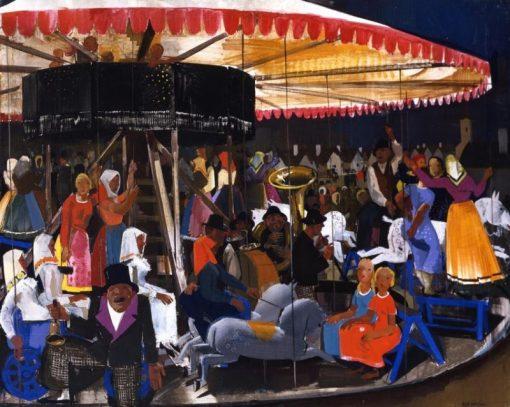 Carousel | Vilmos Aba-Novák | Oil Painting