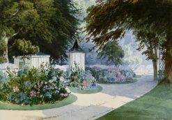 The Rosenau -  the gardens of the Hereditary Prince of Saxe-Coburg and Prince Albert | Max Bruckner | Oil Painting