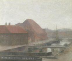View of Frederiksholm Canal | Vilhelm Hammershøi | Oil Painting