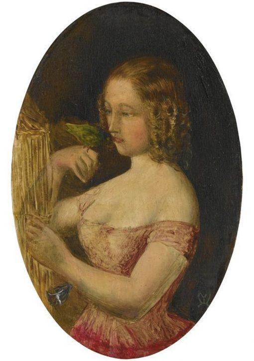 A Girl and a Bird   John Everett Millais   Oil Painting