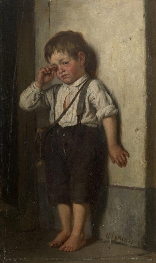 A Wretched Boy | Karl Lemokh | Oil Painting