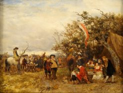 The Military Camp   Heinrich Breling   Oil Painting