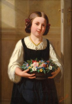 Girl with Flowers | Albert Conrad | Oil Painting