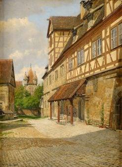 View of Rothenburg   Josef Theodor Hansen   Oil Painting