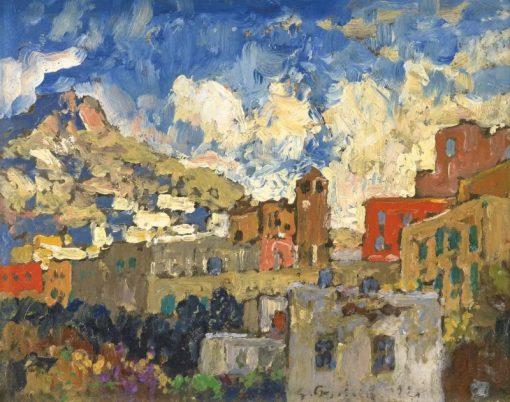 View of Capri | Konstantin Gorbatov | Oil Painting