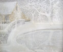 Garden in the Snow   Constant Montald   Oil Painting