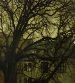 Tree in a Courtyard | Svend Hammershoi | Oil Painting