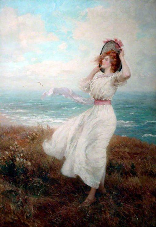 Breeze on the Cliff | Arthur Hopkins | Oil Painting