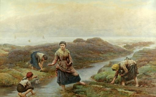 Gathering Periwinkles | Arthur Hopkins | Oil Painting