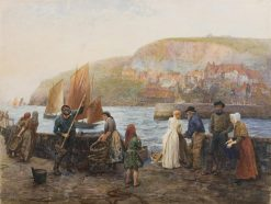Saturday evening on the quay | Arthur Hopkins | Oil Painting