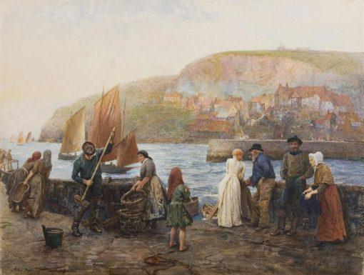 Saturday evening on the quay | Arthur Hopkins | Oil Painting