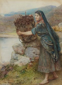 A Connemara Girl | Arthur Hopkins | Oil Painting