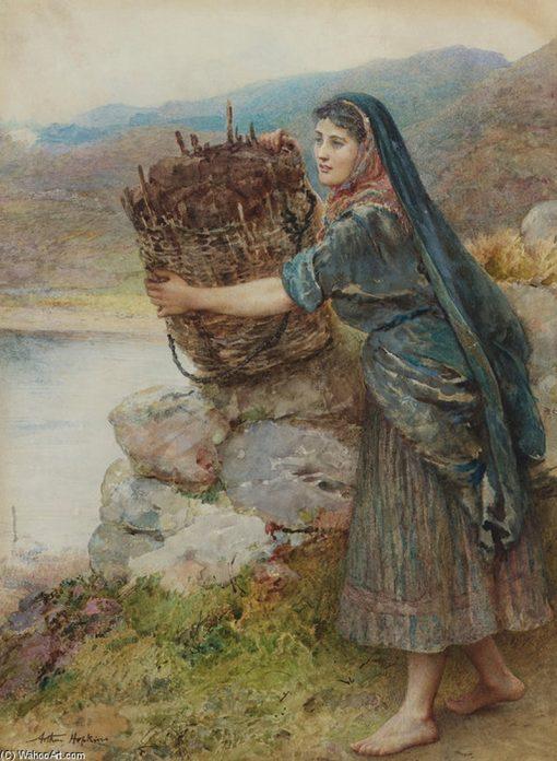 A Connemara Girl | Arthur Hopkins | Oil Painting