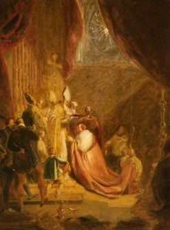 Wolsey Receiving the Cardinals Hat in Westminster Abbey | George Henry Harlow | Oil Painting