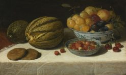 Still-life with melons