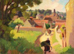 Lentree de Boury   Jules-Emile Zingg   Oil Painting