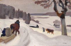 Neige près du Russey   Jules-Emile Zingg   Oil Painting