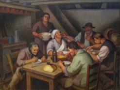 Repas des paysans   Jules-Emile Zingg   Oil Painting