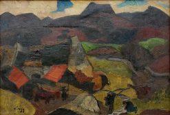 Le village de Groire   Jules-Emile Zingg   Oil Painting