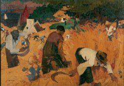 Moisson a la Clarte   Jules-Emile Zingg   Oil Painting