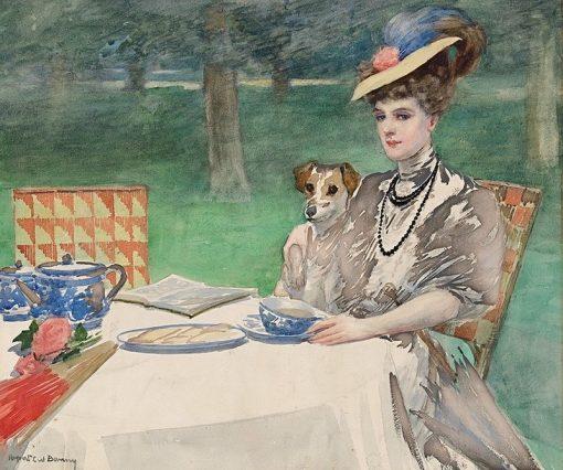 Tea Time   Rupert Bunny   Oil Painting