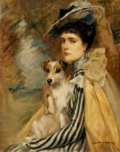 Jeanne with her Terrier | Rupert Bunny | Oil Painting
