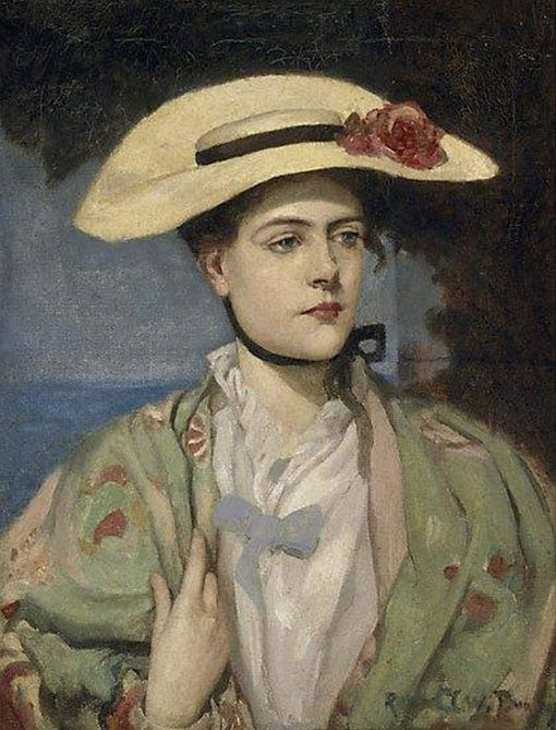 Portrait of the Artists Wife   Rupert Bunny   Oil Painting