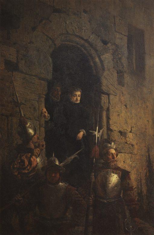 Arrest of the Huguenote Jacobine de Montebel