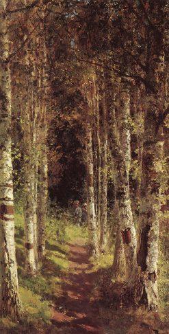 Birch Alley in Abramtsevo | Vasily Polenov | Oil Painting