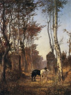 In the Park. The Village of Veules in Normandy | Vasily Polenov | Oil Painting