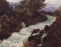 The Waterfall | Vasily Polenov | Oil Painting