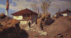 The Commanders House in Brestovets | Vasily Polenov | Oil Painting