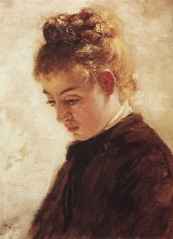 Head of a Young Woman | Vasily Polenov | Oil Painting