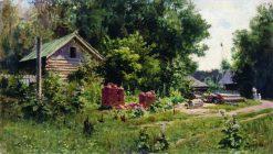 The Courtyard   Vasily Polenov   Oil Painting