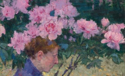 Peonies and Head of a Woman | John Peter Russell | Oil Painting