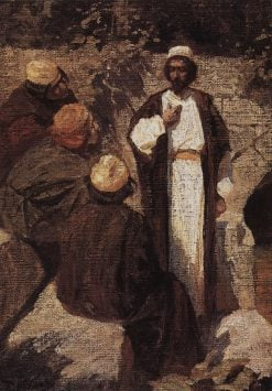 What People Think About Me? (study) | Vasily Polenov | Oil Painting