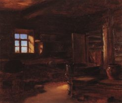 Interior of a Peasant Cottage | Vasily Polenov | Oil Painting