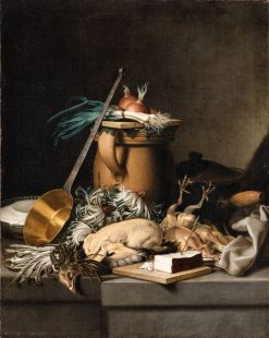 A Kitchen Still Life with Poultry