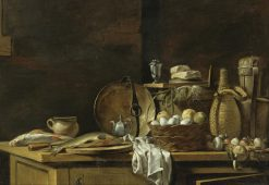 Kitchen Table Still Life | Nicolas Henri Jeaurat de Bertry | Oil Painting
