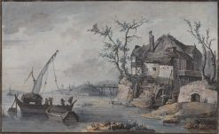 Yonne Riverside | Nicolas Henri Jeaurat de Bertry | Oil Painting