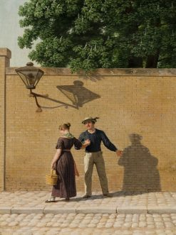 Sailor Taking Leave of His Girlfriend | Christoffer Wilhelm Eckersberg | Oil Painting