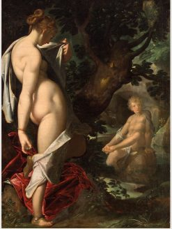 Hermaphrodite and the Nymph Salmacis   Bartholomaeus Spranger   Oil Painting
