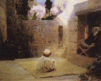 Gaining Wisdom | Vasily Polenov | Oil Painting