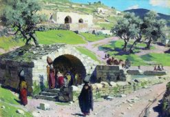 The Source of Virgin Mary in Nazareth | Vasily Polenov | Oil Painting