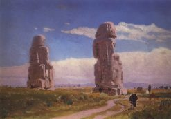 Colossi of Memnon | Vasily Polenov | Oil Painting
