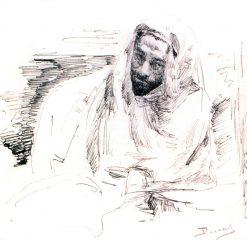 Isaak Levitan Dressed as Bedouin | Vasily Polenov | Oil Painting