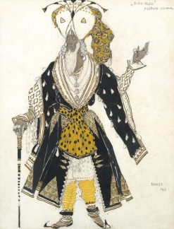 """Costume design for the Priest Soma from """"Le Dieu Bleu"""" 