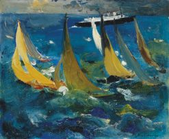 Regatta   Filipp Andreevich Maliavin   Oil Painting