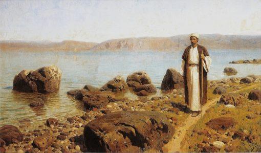 On the Sea of Tiberias (Galilee)   Vasily Polenov   Oil Painting